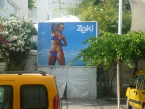 Billboard in Bodrum--defying stereotypes